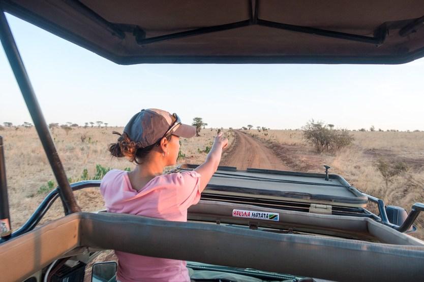 Heather leading us on the safari