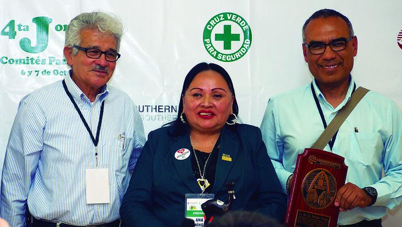Se realizó una distinción especial a Ana Luz Domínguez en la Jornada de Comités Paritarios