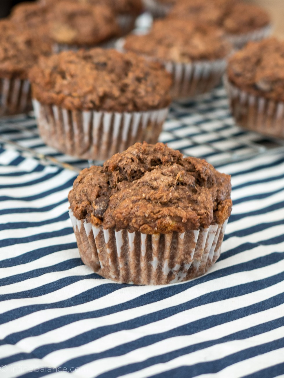 Double Chocolate Whole Wheat Banana Muffins