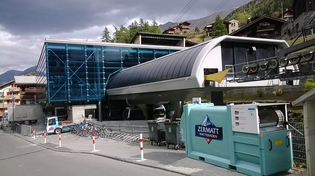 zermatt matterhorn express cable station