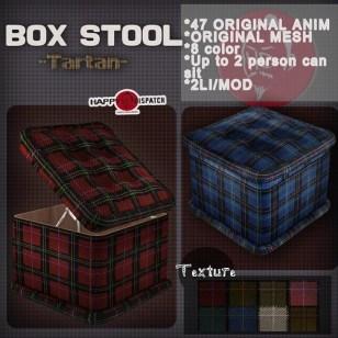 Box stool Tartan ad