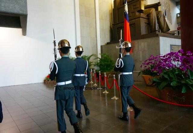 国父紀念館 交代した衛兵