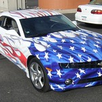 camaro flame flag