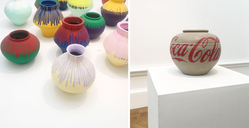 ai wei wei coloured vases royal academy