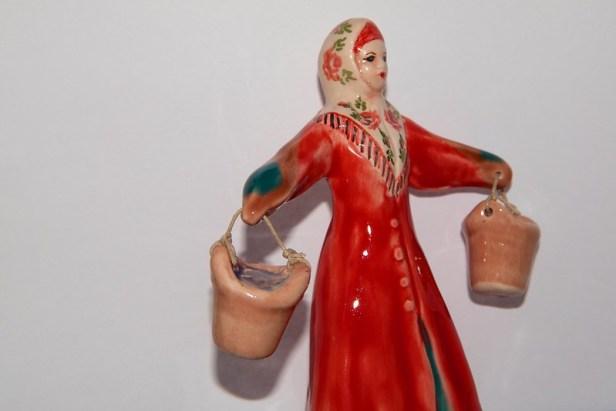 Фарфоровая русская кукла, Торжок, 2015 год, Тверская область, Россия
