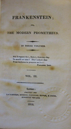 Rare Book of the Month  Frankenstein  or  The Modern Prometheus  by     frankenstein 0101