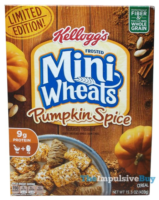 Kellogg's Limited Edition Frosted Mini Wheats Pumpkin Spice Cereal
