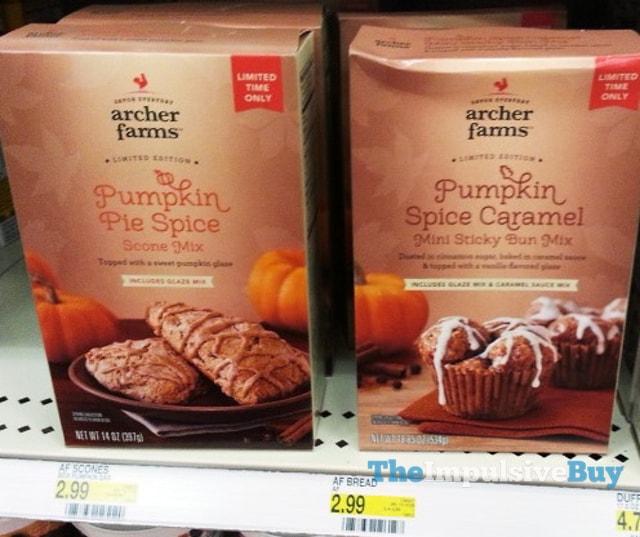 Archer Farms Pumpkin Pie Spice Scone Mix and Pumpkin Spice Caramel Mini Sticky Buns Mix