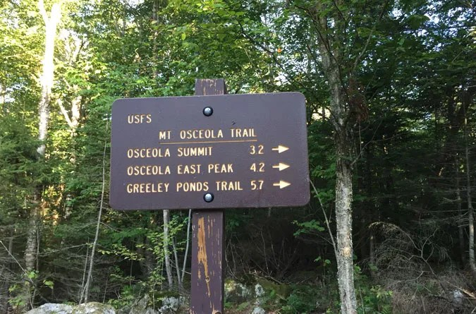 Osceola Trail Sign