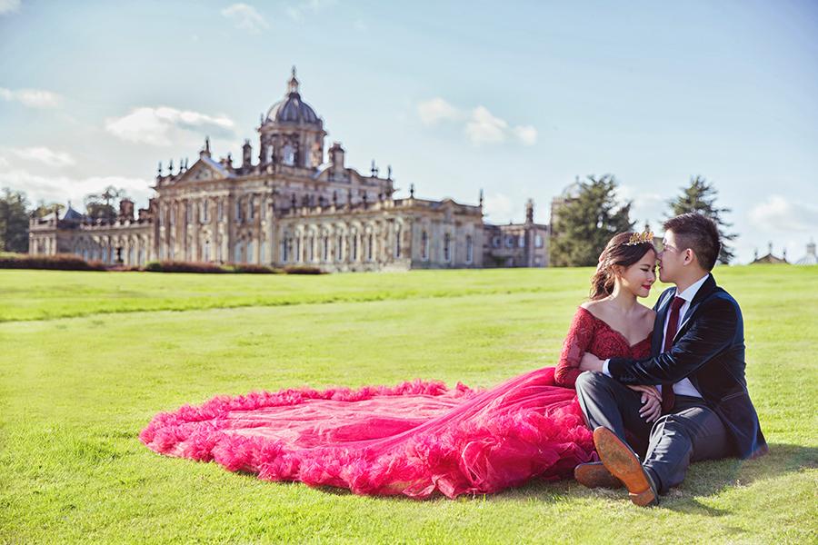 海外婚紗,倫敦婚紗,英國婚紗,castle howard,prewedding,Alisha&Lace愛儷莎和蕾絲法式手工婚紗