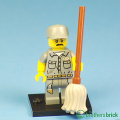 Collectible Minifigs Series 15 Janitor