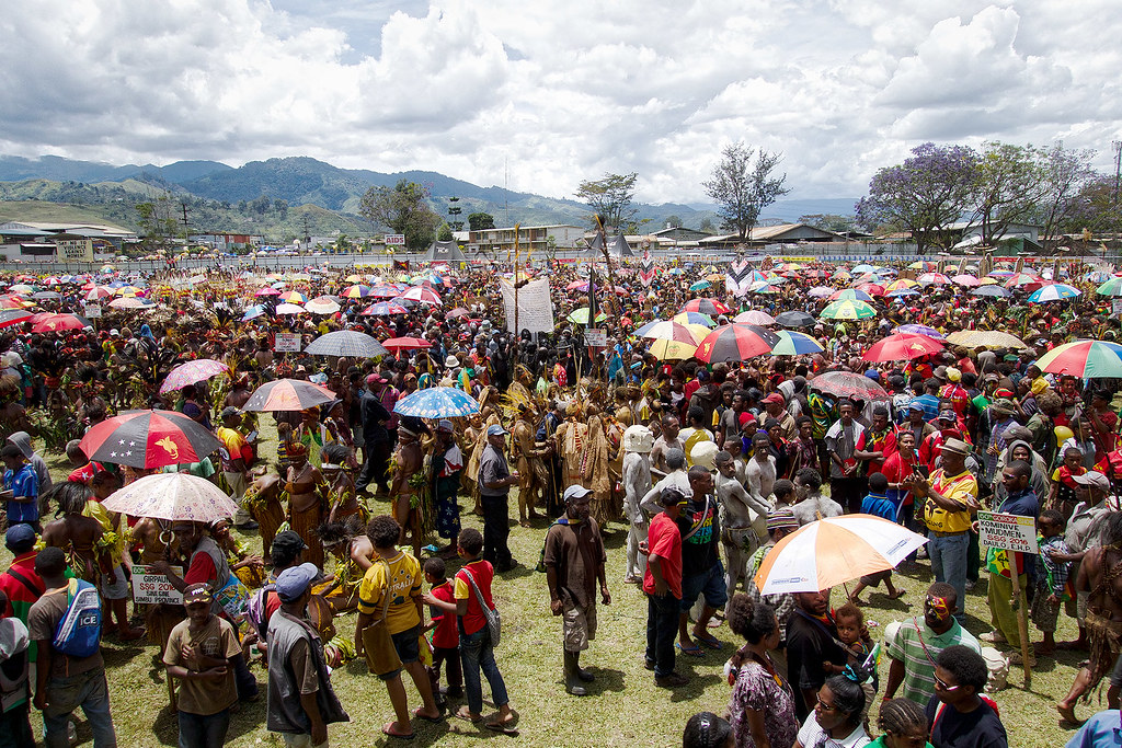 The Goroka Show in full swing.