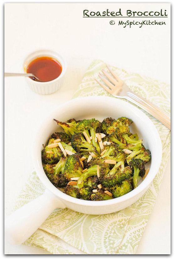 Roasted Broccoli, Roasted Vegetable, Oven Roasted Broccoli, Bakeathon, Side Dish,