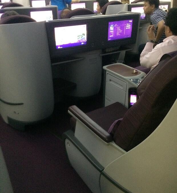 161021 タイ航空B787-800ビジネスクラス