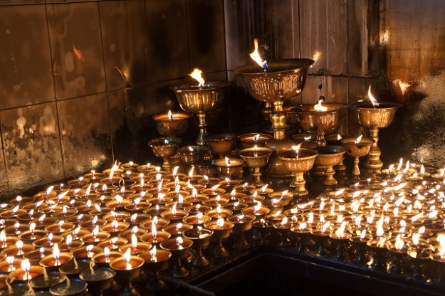 Butter lamp room. Boudhanath