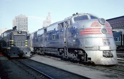 CB&Q E5A 9912A was at St. Paul Union Depot on June 27, 1964