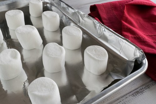 marshmallows ready to roast