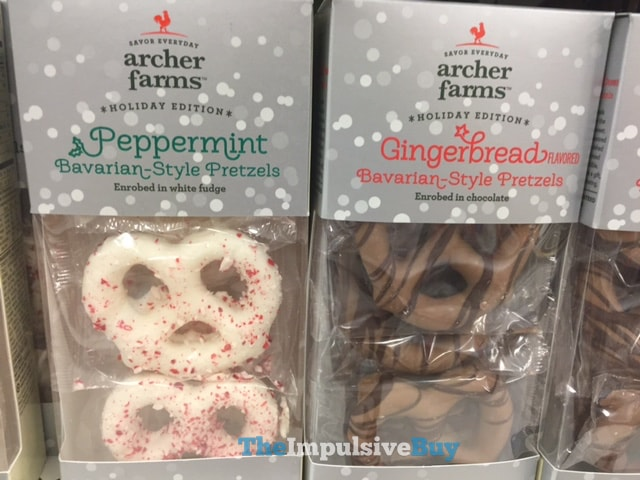 Archer Farms Holiday Edition Peppermint and Gingerbread Bavarian-Style Pretzels