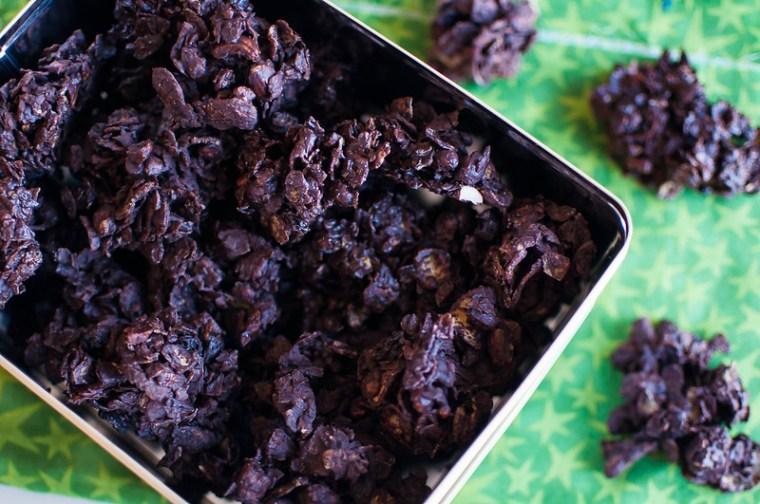 Chocolate and Nut Cornflake Cookies 2