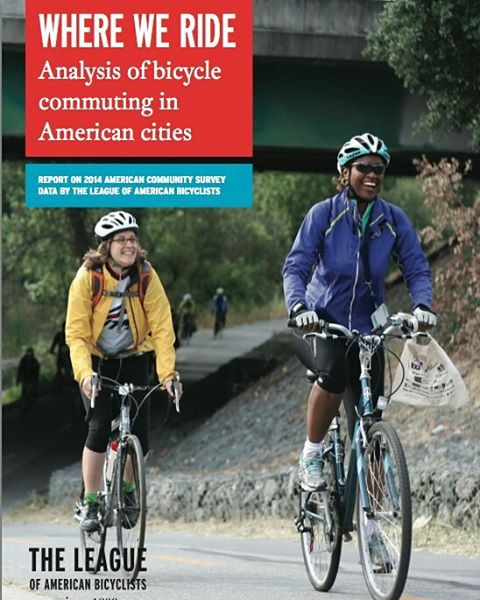 """League of American Bicyclists annual """"Where We Ride"""" report with cover photo shot by Yours Truly. Read it at http://bikeleague.org/content/where-we-ride-2014-analysis-bike-commuting  #cycling #Bicycle #bike"""