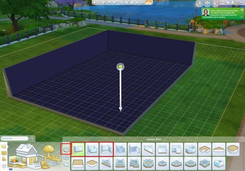 Les Sims 4 créer un demi-niveau