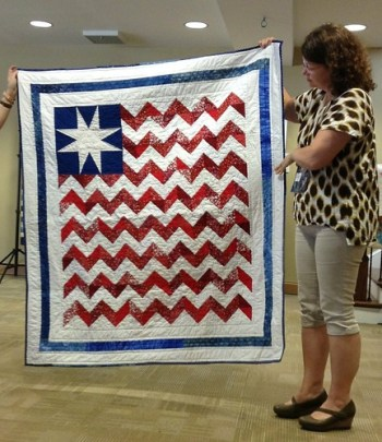 Long May She Wave- Quilt of Valor