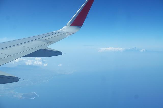 Llegando a Gran Canaria