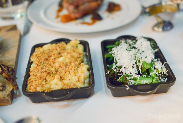 Mac and Cheese & Charred Broccolini with Toasted Chili Flakes and Ricotta Salata