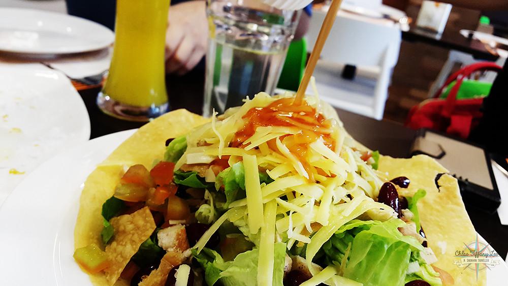 Fiesta Taco Salad, Pancake House International, Jalan Pantai, Gaya Street, Kota Kinabalu, Sabah, Chloe Tiffany Lee