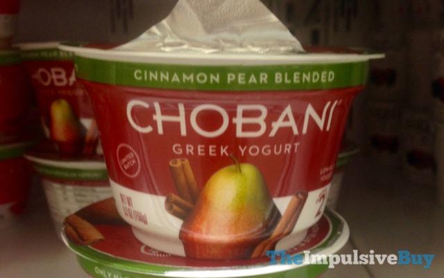 Chobani Limited Batch Cinnamon Pear Greek Yogurt
