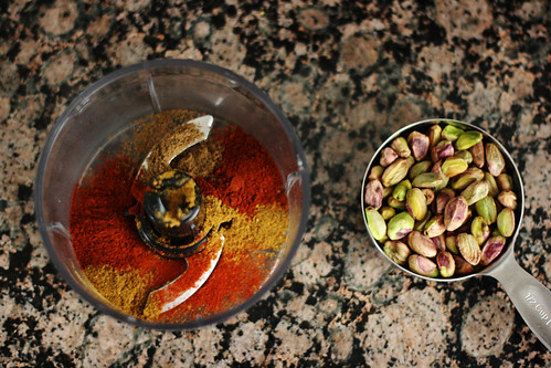 Pistachios and spices