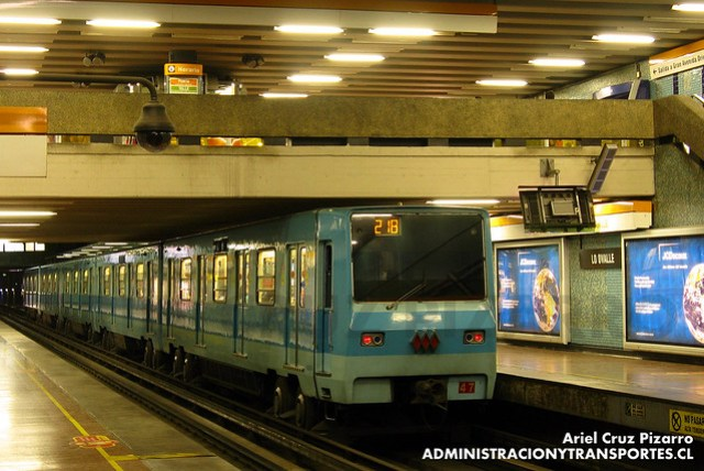 Metro de Santiago - Alsthom NS74 P3047 - Lo Ovalle (L2)