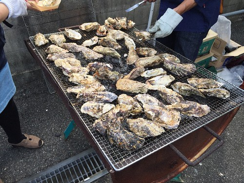 焼き牡蠣〜〜