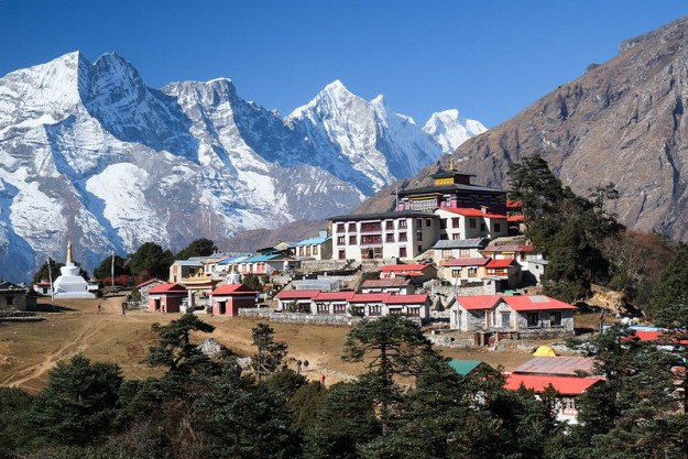 Tengboche from above