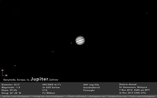 Jupiter 7 Nov 2015