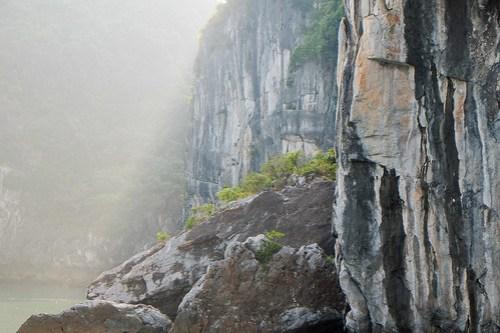 Slanting light and karst. Lan Ha Bay
