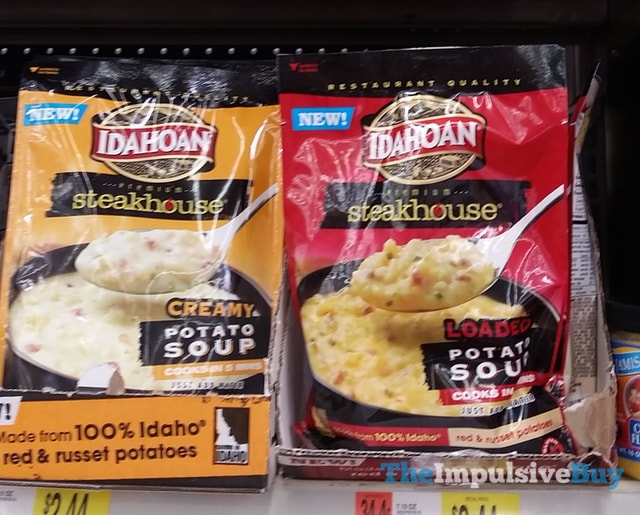 Idahoan Steakhouse Creamy and Loaded Potato Soup
