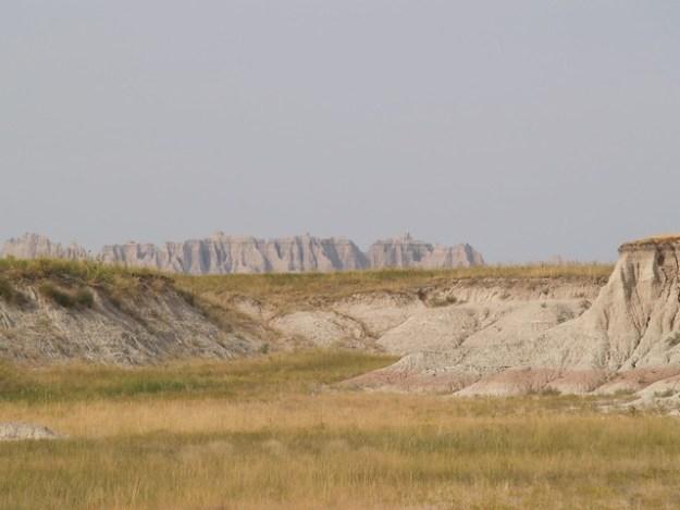 The Badlands wall