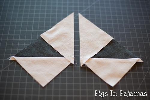 Cut triangle in half