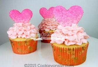 Tutu cupcakes with cookie topper