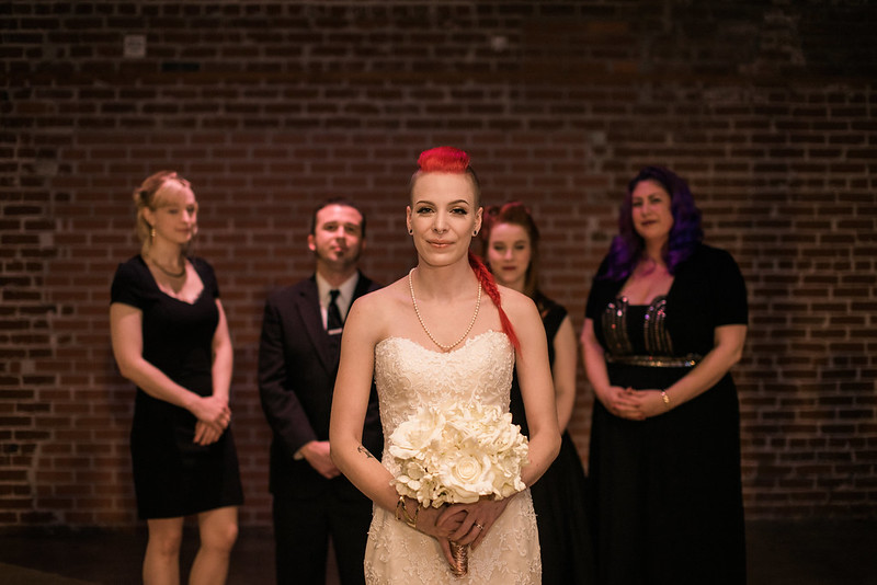 Braided mohawk hairstyle as seen on @offbeatbride