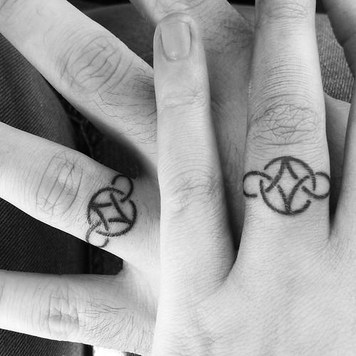 60 Hearwarming Wedding Ring Tattoo Ideas - The New Celebrity Trend