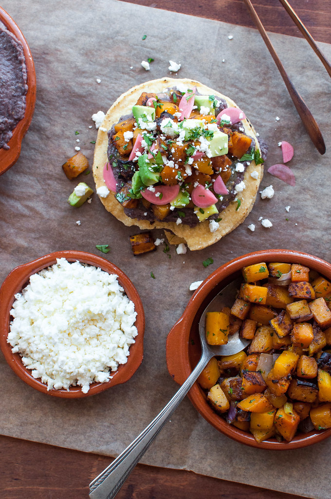 Easy fall butternut squash tostadas recipe