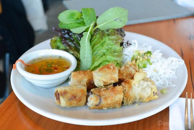 crispy imperial rolls, gulf shrimp, pork shoulder, vermicelli noodles, roasted peanut