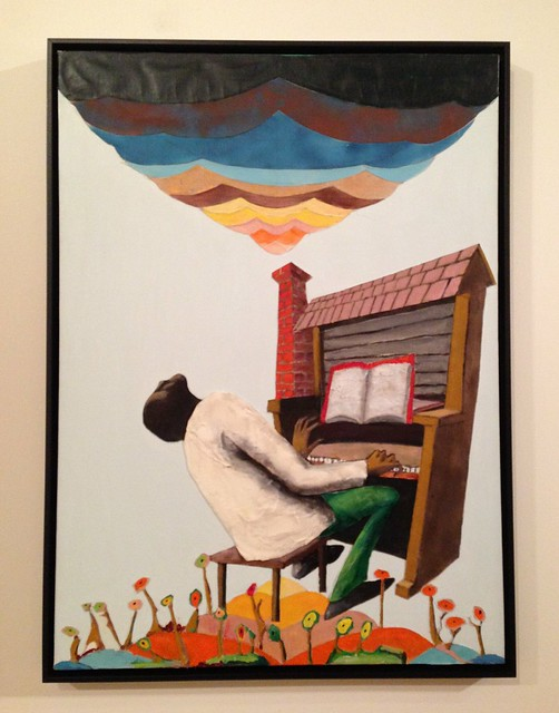 Cabin in the Sky by Benny Andrews at Birmingham Museum of Art