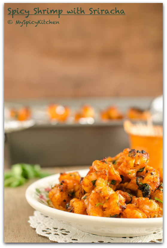 Grilled Shrimp, Broiled Shrimp, Spicy Shrimp, Sriracha Shrimp,