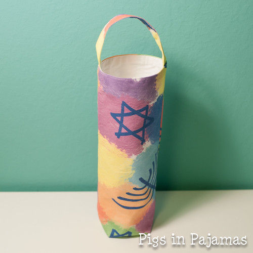 Hanukkah wine bag