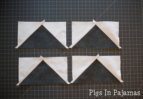 Flying geese with tabs