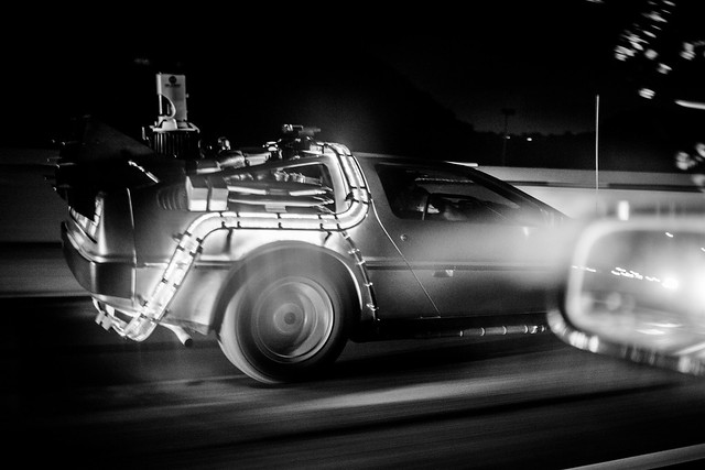 DeLorean on the 405N
