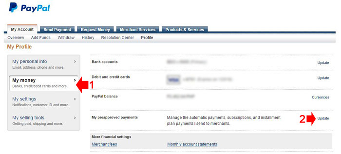 How to cancel PayPal recurring payments step 3